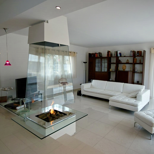 Bloch design glass fireplace 2