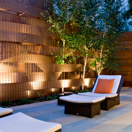 perforated copper panels