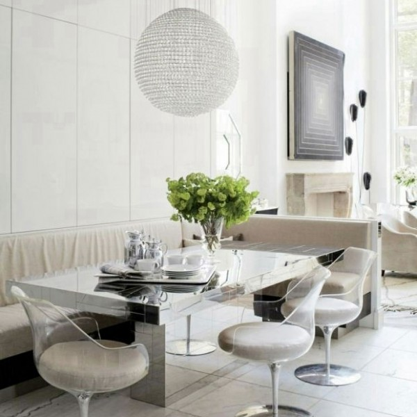 Architectural Digest mirrored table